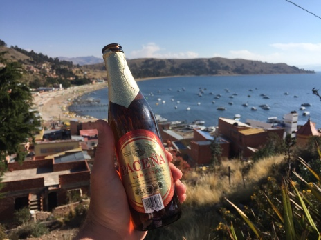 Beer and a view in Copa Cabana